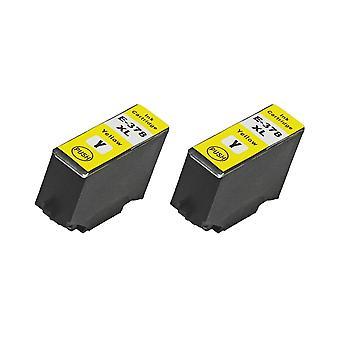 RudyTwos 2 x repuesto para unidad de tinta Epson 378XLY amarillo Compatible con XP-8500, XP-8505, HD XP-15000