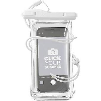 Cellularline VOYAGER20W Pouch (+ vision panel) Wit, Transparant