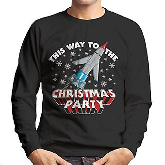 Thunderbirds This Way To The Christmas Party Men's Sweatshirt