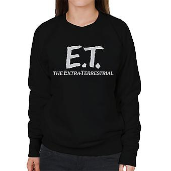 E.T. Retro Text Logo Women's Sweatshirt