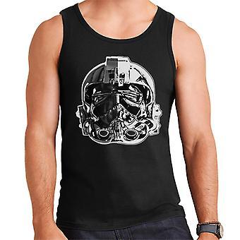 Original Stormtrooper Imperial TIE Pilot hjälm monokrom effekt mäns väst