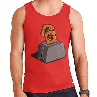 Mortal Kombat Logo On Toast Men's Vest