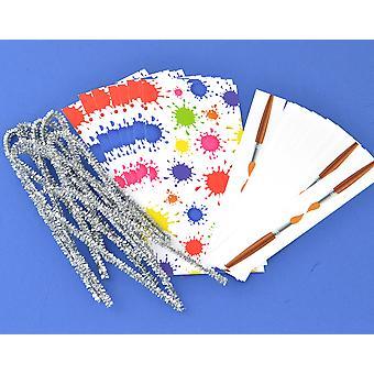 Envoltórios de cracker e laços para 8 biscoitos - Paint Splat