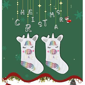 mote søt design lysende jul anheng hengende sokker - X-mas trær sokk