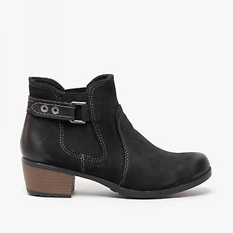 Earth Spirit El Reno Ladies Leather Ankle Boots Black