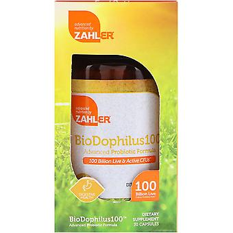 Zahler, BioDophilus100, Geavanceerde Probiotische Formule, 100 miljard CFU, 30 Capsules