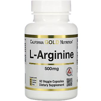 California Gold Nutrition, L-Arginin, AjiPure, 500 mg, 60 vegetarische Kapseln