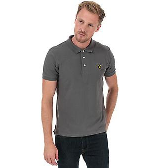 Men's Lyle And Scott Plain Polo Shirt in Grey
