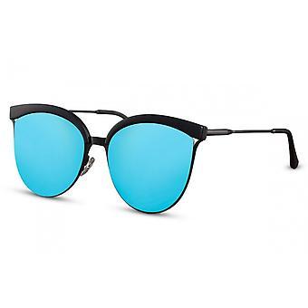 النظارات الشمسية المرأة البانتو الأسود / الأزرق (CWI1427)