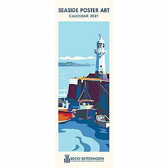 Otter House 2021 Slim Calendar-seaside Poster Art
