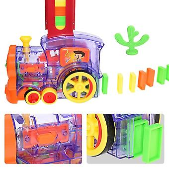 Domino Train- Automatic Laying Building Blockstrain Car Set Sound Light Plastic
