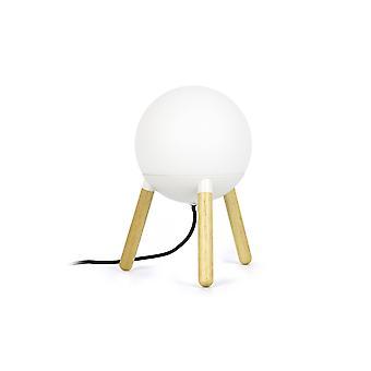 Faro Mine - 1 Licht Tisch Kugel Lampe weiß, Holz, E27