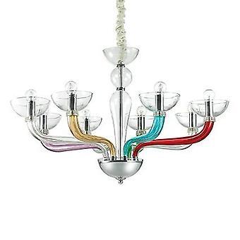 8 Light Chandelier Finitura multicolore, E14