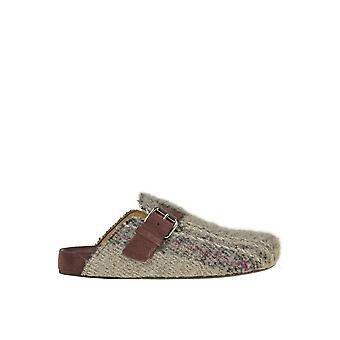 Isabel Marant Ezgl287054 Women's Grey Wool Slippers