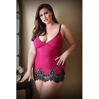 Melanie Dress With String - Raspberry