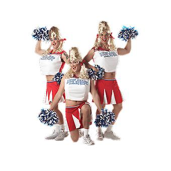 Mens Cheerleader USA Stag Night Novelty Funny Fancy Dress Costume