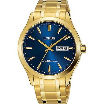 Lorus Mens Armband Dress Watch met Blauwe Wijzerplaat (Model Nr. RXN62DX9)