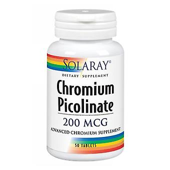 Solaray Chromium Picolinate, 200 mcg, 50 Tabs