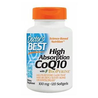 أفضل الأطباء CoQ10 عالية امتصاص مع Bioperine، 100 ملغ، 120 Softgels