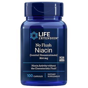 Life Extension No Flush Niacin, 800 mg, 100 Kapseln