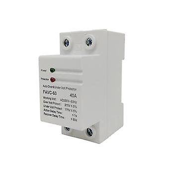 40a/230v Household Rail Automatic, Recovery Reconnect, Over Voltage And Under