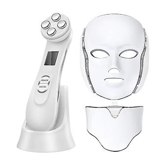Beauty Skin Rejuvenation Led Facial Mask, Photon Light Mask With Neck Therapy
