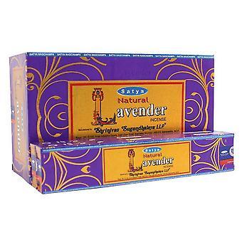 Satya Natural Lavender Incense Sticks (Box Of 12 Packs)