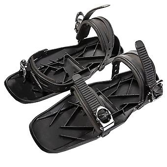 Adjustable Portable Winter Ski Skates Shoes Short Skiboard, Mini Snowblades