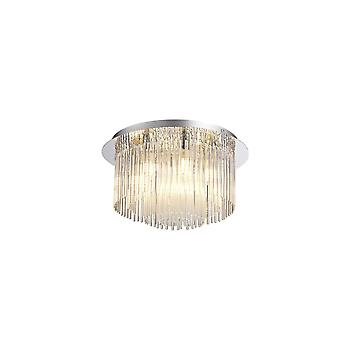 Florence Ceiling Light, 6 X G9, Ip44, Polished Chrome/clear Glass