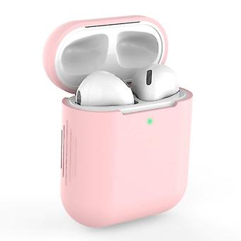 SIFREE Flexible Case for AirPods 1/2 - Silicone Skin AirPod Case Cover Supple - Pink