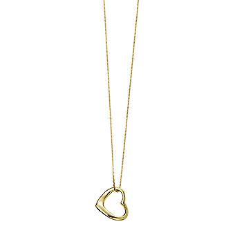 Beginnings Ladies' 925 Sterling Argento Placcato Open Heart Pendant Collana di Lunghezza 41-46cm