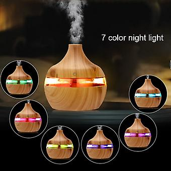 New Electric Humidifier Essential Aroma Oil  Ultrasonic Wood Grain Air Humidifier USB Mini Mist Maker LED Light For Home