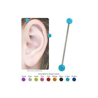 Acrylic colored industrial barbell