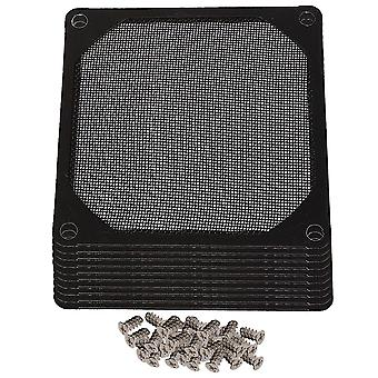 10Pcs 80mm Metal PC Computer Chassis Fan Case Strainer Dustproof Filter Black