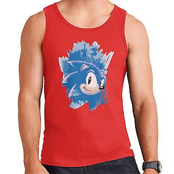 Sonic The Hedgehog Character Head Brush Trazo Hombres's Chaleco