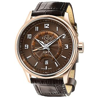 GV2 Men's Giromondo Brown Dial Brown Calfskin Leather Watch
