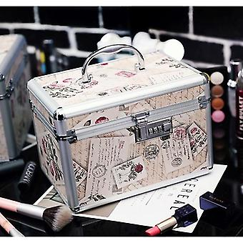 Professional Toolbox/suitcase Cosmetic Jewelry Makeup Storage Box
