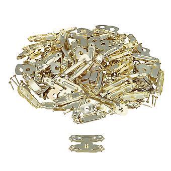 80 x Golden Metal Home Décoratif Mini Jewelry Case Box Latch Catch Buckle