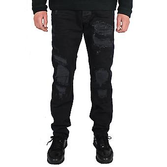 True religion rocco men's black jeans