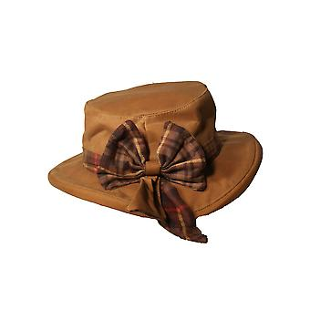 Walker and Hawkes - Ladies Wax Riding Thelma Bow Knot Hat With Tartan Trim