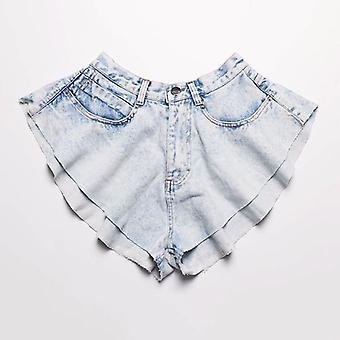 Casual Denim, Φούστες Σορτς - Ψηλό Παντελόνι βολάν μέσης