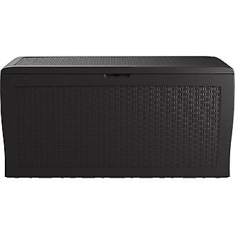 Tuinbox Rattan Look Box 270L grafiet