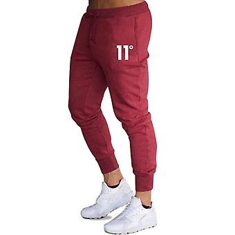 Solid Casual Mens Slim Fit Tracksuit, Sports Solid Gym Cotton Skinny Joggers