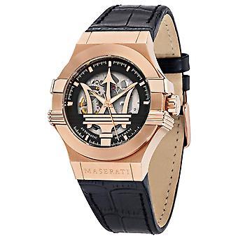 Maserati R8821108039 Potenza Automatic Black Skeleton Dial Men's Watch