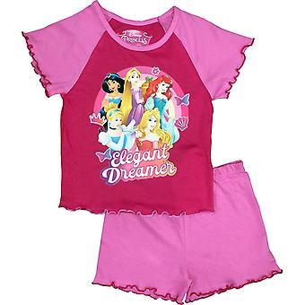 Disney Princess Girls Short Pyjama Set