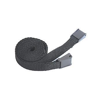 Multimat Camlock Buckled Straps-Pair (Black) - Black