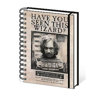 Harry Potter Wanted Sirius Black A5 Wirebound Notebook