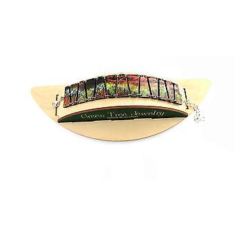 Sunset Flower Bracelet #7525a
