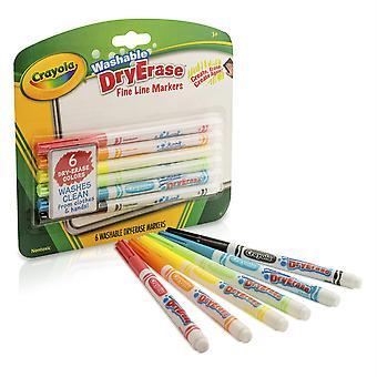 Crayola waschbare trockene Erase Marker, 6 Farben