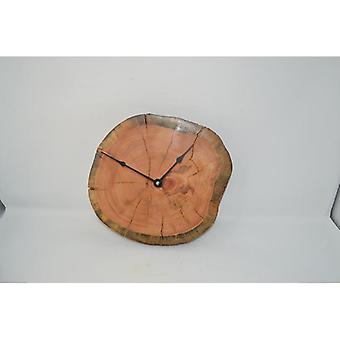 Wooden wall clock wooden clock clock tree disc clock 28x26 cm Made in Austria clock zirb pinus Cembra clock wallclock clock gift gift idea wood decoration decoration decoration wood decoration